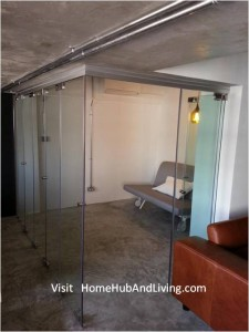 Frameless Door system Flexible Study Room Double Swing Door Size Opening 225x300 Official Site of Latest Frameless Doors System & Flying Door Designs: Space Design Solutions for protecting Home Balcony, Patio, Room Dividers, Home Office, Office Partition, Co Space Solutions and more!