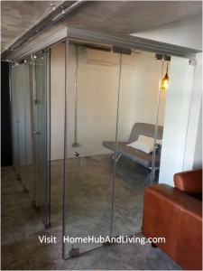 Frameless Door system Swing Door hidden. Creative Glass Feature Wall 225x300  Official Site of Latest Frameless Doors System & Flying Door Designs: Space Design Solutions for protecting Home Balcony, Patio, Room Dividers, Home Office, Office Partition, Co Space Solutions and more!