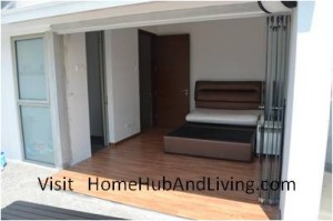 Balcony Side Folded 300x199 Frameless Door System and Flying Door Design: Enjoy Up Close Full Nature Outdoor Sky View Beauty Experiences Direct from Singapore Penthouse Bedroom Through Unblock Balcony Open Spaces