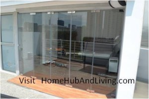 Balcony Side Fully Open 300x199 Frameless Door System and Flying Door Design: Enjoy Up Close Full Nature Outdoor Sky View Beauty Experiences Direct from Singapore Penthouse Bedroom Through Unblock Balcony Open Spaces