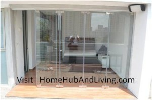Direct Flying Door Open for optional easy access 300x199 Frameless Door System and Flying Door Design: Enjoy Up Close Full Nature Outdoor Sky View Beauty Experiences Direct from Singapore Penthouse Bedroom Through Unblock Balcony Open Spaces