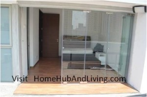 Direct Partial Bigger Opening Position 300x199 Frameless Door System and Flying Door Design: Enjoy Up Close Full Nature Outdoor Sky View Beauty Experiences Direct from Singapore Penthouse Bedroom Through Unblock Balcony Open Spaces