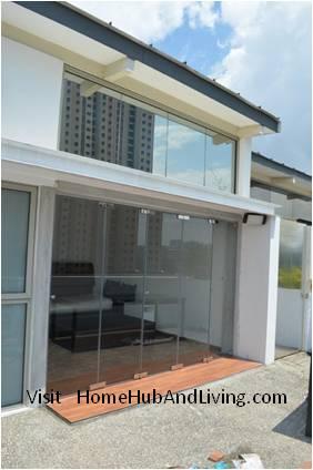 Full Penthouse View Open Frameless Door Frameless Door System And Flying  Door Design: Enjoy Up. U201c