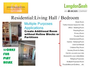 Applications for Residential 300x224 Langdon & Seah Technical Presentation on Frameless Doors System and Flying Door Design together Products Highlights on Double Glazed Built in Curtain Designs in Singapore