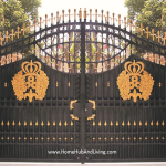 Grand Entrance French design wrought iron Gate FZY-TM024