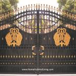 Grand Entrance French design wrought iron Gate FZY-TM024