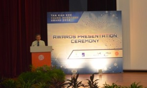 Speech from Guest of Honor Mr. Sam Tan Chin Siong Singapore Minister of State Prime Minister's Office and Ministry of Culture Community and Youth 300x180 Award winning for Frameless Doors System (with Flying door design) from Tan Kah Kee Young Inventors Award  with Guest of Honor Mr. Sam Tan Chin Siong (Singapore Minister of State, Prime Minister's Office and Ministry of Culture, Community and Youth)