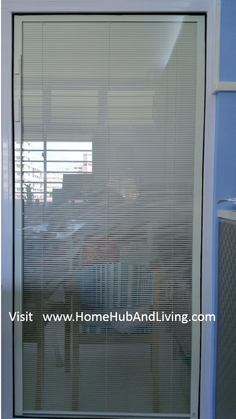 Smart Blinds System opposite side full size Singapore Smart Blinds System For Flexible Privacy and Open Concepts Suits Different Designs (e.g Offices, Study Room, Partitions, Windows, Balcony Doors, Patio and more ideas) Double Glazed Glass with Built in Blinds