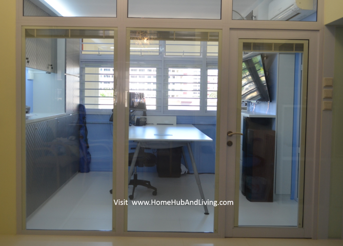 Smart Blinds view clear glass room with all raised blinds Small Singapore Smart Blinds System For Flexible Privacy and Open Concepts Suits Different Designs (e.g Offices, Study Room, Partitions, Windows, Balcony Doors, Patio and more ideas) Double Glazed Glass with Built in Blinds