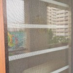 Singapore Mosquito Net Retractable Closed Net,  close up side view or Prevent Dengue: Retractable Invisible mosquito / Insect Screen For Doors, Windows, Balcony, Patio, Terraces And Other Protection Areas Able To Install.